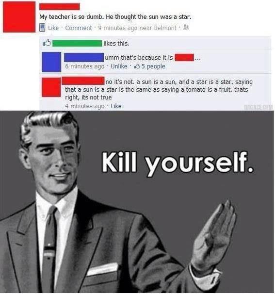 Funny Memes - kill yourself