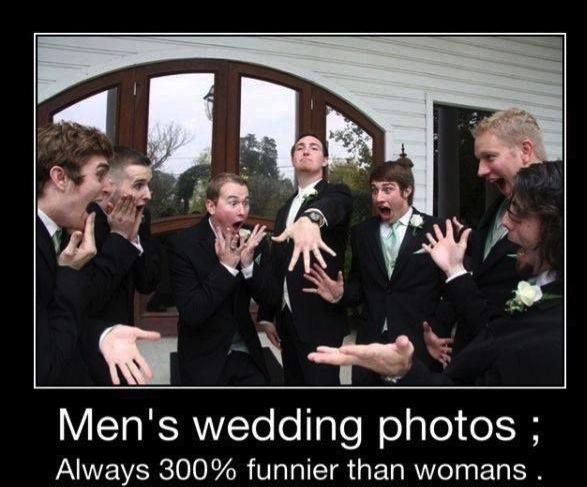 Funny Memes - mens wedding photos