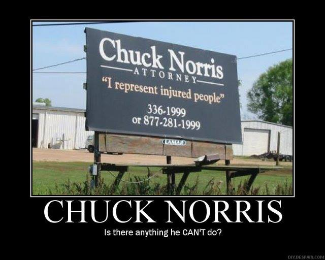 Funny Memes: chuck norris attorney