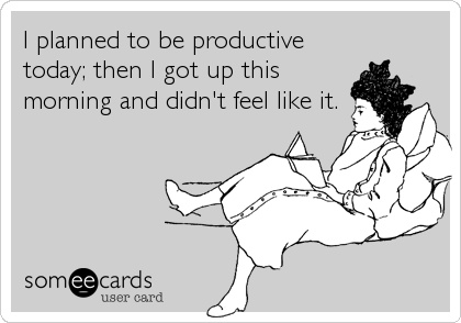 Funny Ecards - i planned to be productive