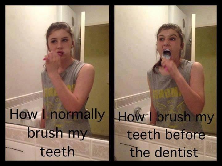 Funny Memes - how i brush my teeth