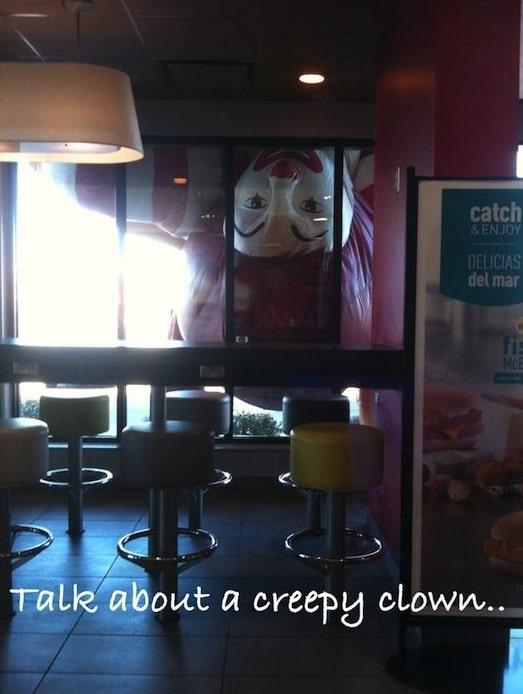 Funny Memes - talk about a creepy clown
