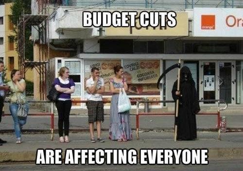 Funny Memes: budget cuts