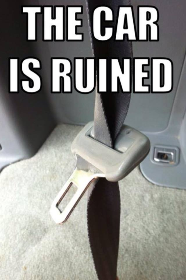 the car is ruined