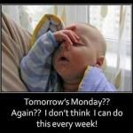 Funny Baby Memes - tomorrows monday