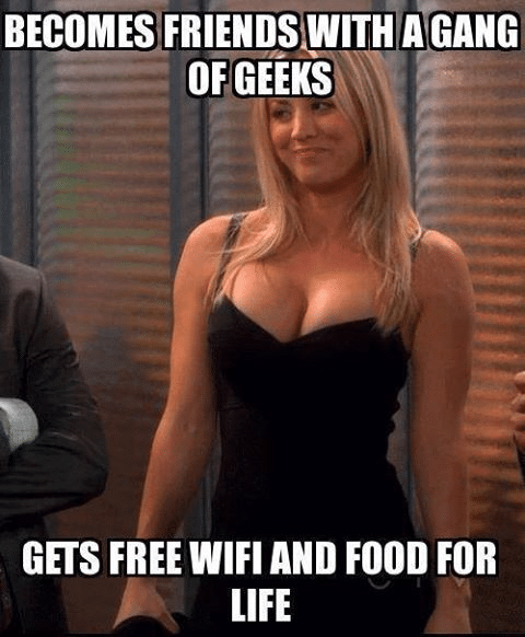 Funny Memes - free wifi and food