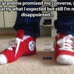 Funny Memes - grandma promised me converse