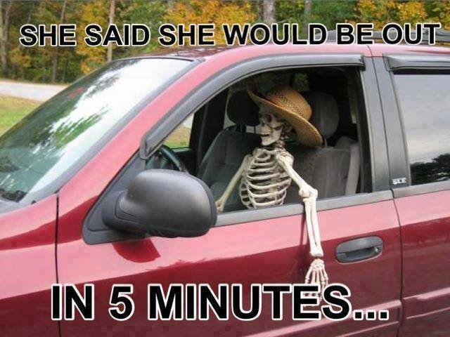 Funny Memes - she said she would be out