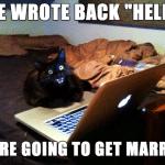 Funny Animal Memes - she wrote back
