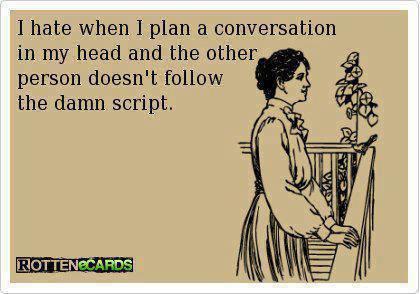 Funny Ecards - follow the script