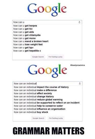 Funny Memes - grammar matters