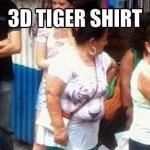 Funny Memes: 3d tiger shirt