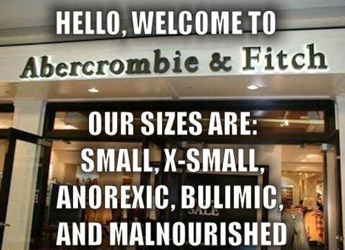 welcome to abercrombie and fitch