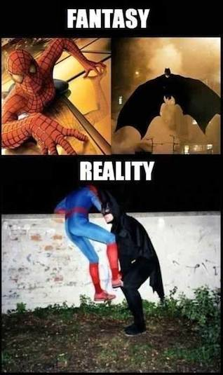 Funny Memes - fantasy vs reality