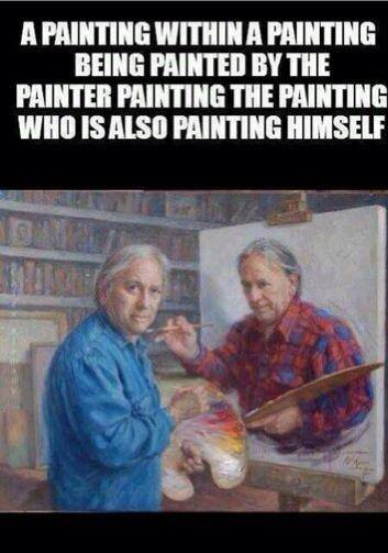 Funny Memes - painting in a painting
