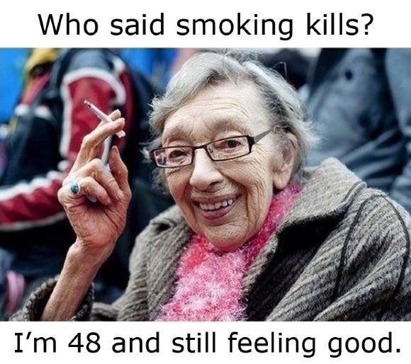 Funny Memes - smoking kills