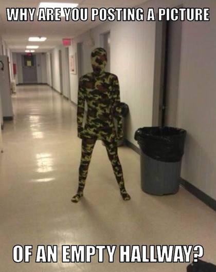 Funny Memes - empty hallway