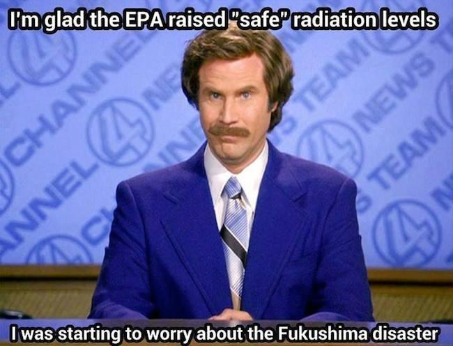 Funny Memes - radiation levels