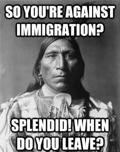 Political Memes: against immigration