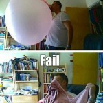 Funny Memes - Chewing gum fail