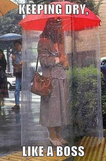 Funny Memes - keeping dry