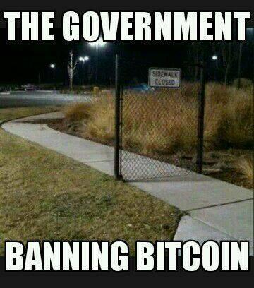 Funny Memes: banning bitcoin